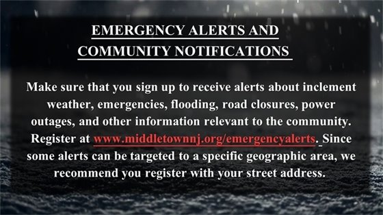 Emergency Alerts and Notifications