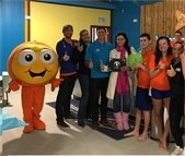 Mayor Stephanie Murray at Goldfish Swim School Grand Opening