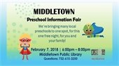 Preschool Information Fair