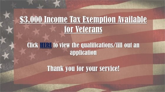 Income Tax Exemption Available for Veterans